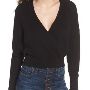 New Nordstrom Leith Rib Wrap Sweater